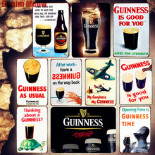 Guinness Is Good for You Plaque Metal Plate Bar Pub Club Decorative Sign Beer Poster Vintage Decor Advertising MN107