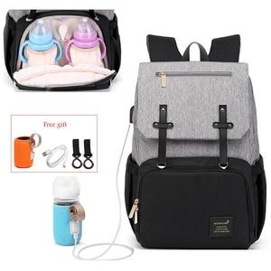 Image 1 - Подгузник для беременных, сумка для ухода за ребенком, для мам, мам, колясок, сумка для коляски, USB, водонепроницаемая, для путешествий, для кормящих мам, сумка для переодевания
