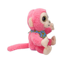 Talking pet Monkey toy plush toys Electronic stuffed animals Child kid girl Creative birthday gift children home decorations #C(China)
