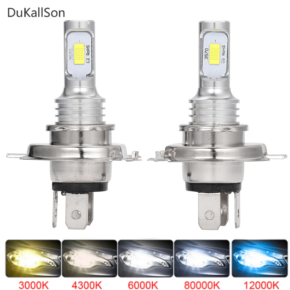 2pcs Car H7 LED Lamp H4 H3 H1 H11 LED Front Bulb 9005 880 881 Ice lamp 6000K 12V Car Headlights Car