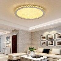 Moderno K9 cristal Circular de techo cuadrado + luces luz de la habitación de suspensión luminaria plafonnier LED salón luces brillo|Luces para el techo|Luces e iluminación -