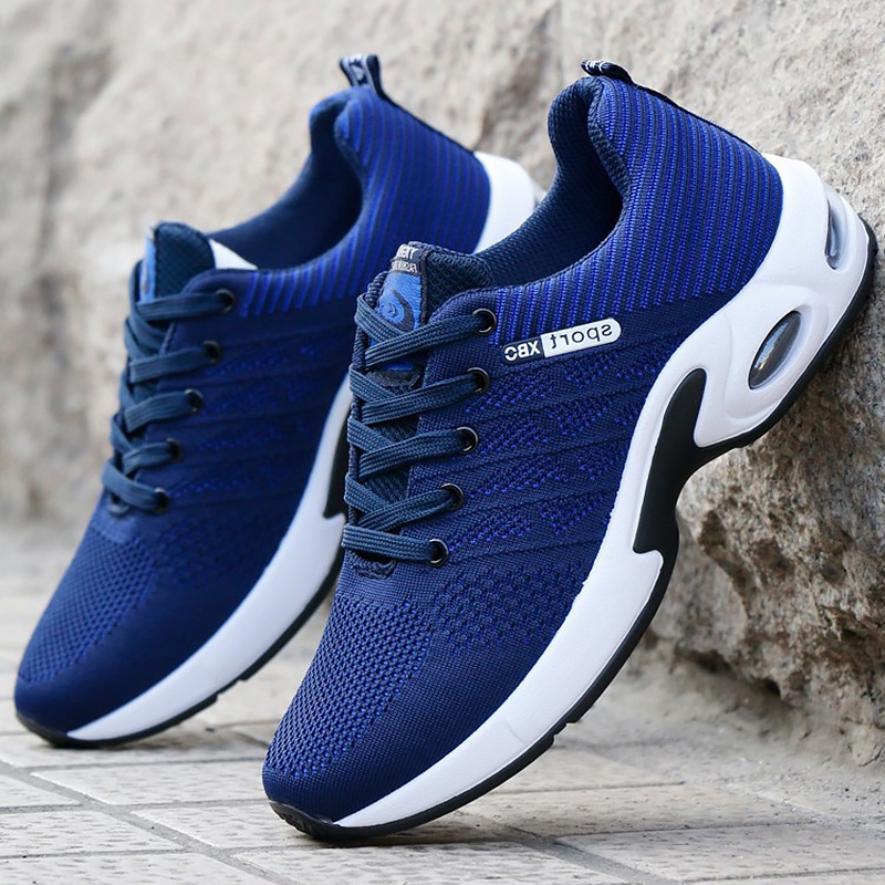 Vulcanized Shoes Mens Sneakers 2020 Fashion Summer Air Mesh Breathable Wedges Sneakers For Men Plus Size 38 44|Men
