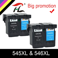 YLC remanufactured 545XL 546XL Ink Cartridge for Canon PG545XL CL546XL Pixma IP2850 MX495 MG2450 MG2550 MG2950 NS28 printer