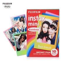 10-100 feuilles Fujifilm Instax Mini Film papier Photo impression instantanée arc-en-ciel Album instantané pour Fujifilm Instax Mini 8/9/7s/25/90