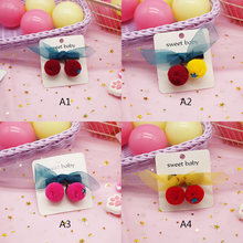HIgh Quality Baby Girl Hairpin Party Hair Bows Clips For Girls Hair Clips Cute Cherry Design Hair Pin Hairpin Hair Accessories(China)