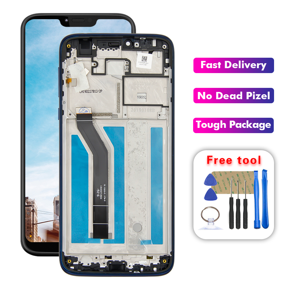 For Motorola Moto G7 Power XT1955-5 XT1955-6 LCD Display Touch Screen Digitizer Assembly With Frame