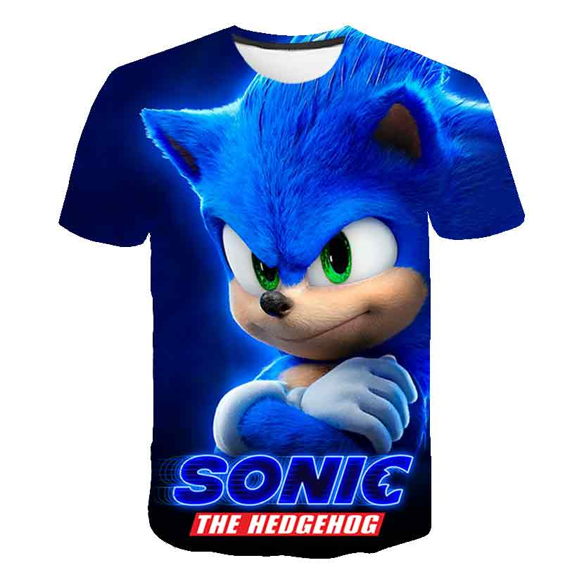 2020 Summer Fashion Sonic The Hedgehog T-shirt Children Boys Short Sleeves Newest Sonic Tees Baby Kids 3D Tops For Girls Clothes
