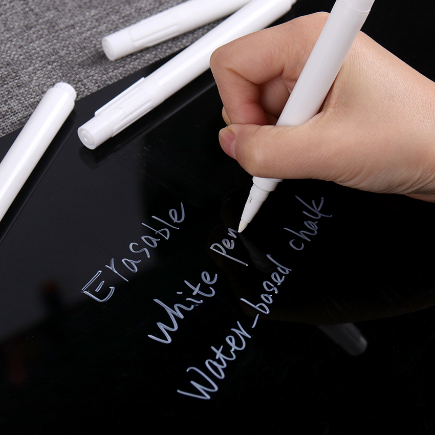 1PC Creative White Liquid Erasable Chalk Dust-Free Chalk For Glass Windows Blackboard Markers Teaching Tools Office Material