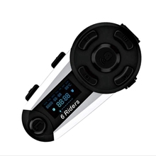 V6 Plus 6 Riders Motorcycle Bluetooth Helm Headset 1200M Fm Led Full Duplex Draadloze Interphone