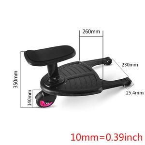 Image 3 - Fashion Children Stroller Pedal Adapter Second Child Auxiliary Trailer Twins Scooter Hitchhiker Kids Standing Plate with Seat