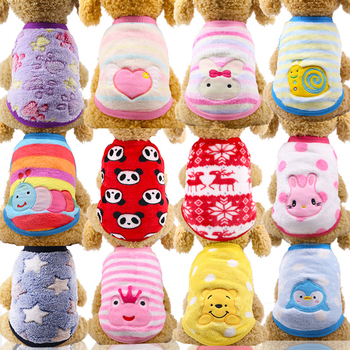 Winter Warm Cartoon Pet Clothes for Small Dogs Cats Soft Fleece Cat Dog Coat Jacket Puppy Clothing Outfits Chihuahua Pet Clothes dog hoodies soft fleece winter warm fashion cat clothes pet dog clothes for small dogs clothing winter puppy chihuahua clothes
