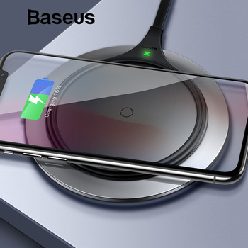 Baseus Metal Wireless charger 10W Qi Wireless Charger Desktop Wireless Charging pad for Samsung Galaxy S9 Note 10 9 iPhoneXs