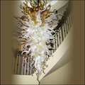 Европейский художественный декоративный светильник-люстра  лестница ручной работы из выдувного стекла  большой подвесной светодиодный св...