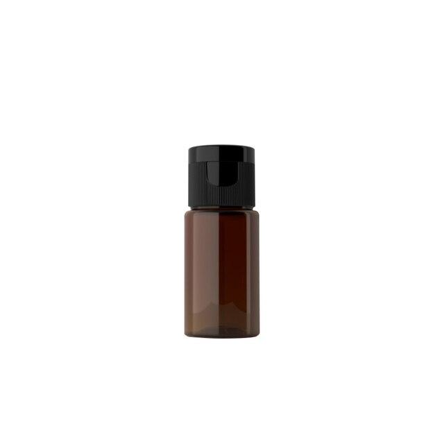 10ml 100 Uds botella de crema cosmética de plástico esencia loción tapa abatible botellas vacías azul verde Blanco marrón rojo contenedor