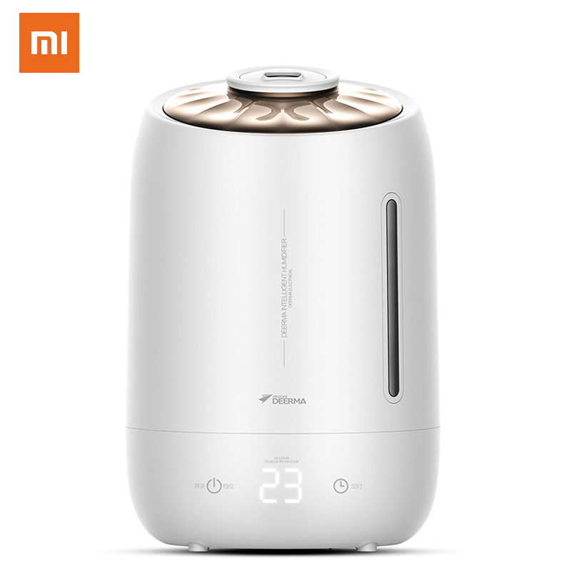 Xiaomi Deerma Household Air Humidifier Air Purifying Mist Maker Timing With Intelligent Touch Screen Adjustable Fog Quantity 5l|Humidifiers| |  - title=