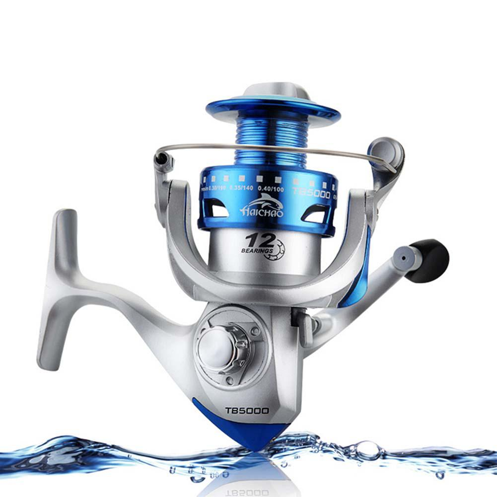 MeterMall 12axis Fishing Reel Electroplated Plastic Wire Cup Spinning Wheel Reel