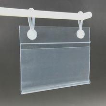 Пластик пвх ценовым освещением и карточная бирка Дисплей держатели