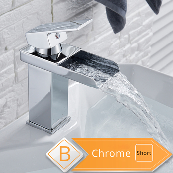 Rozin Waterfall Bathroom Sink Faucet Deck Mount Hot Cold Water Basin Mixer Taps Polished Chrome Lavatory Sink Tap 13