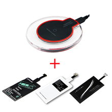 Qi Wireless Chargeing Transmitter+ Qi Receiver For Apple iPhone 4 5 5S SE 6 6S Wireless Charger Pad Kit For iPhone 7 7 Plus 8