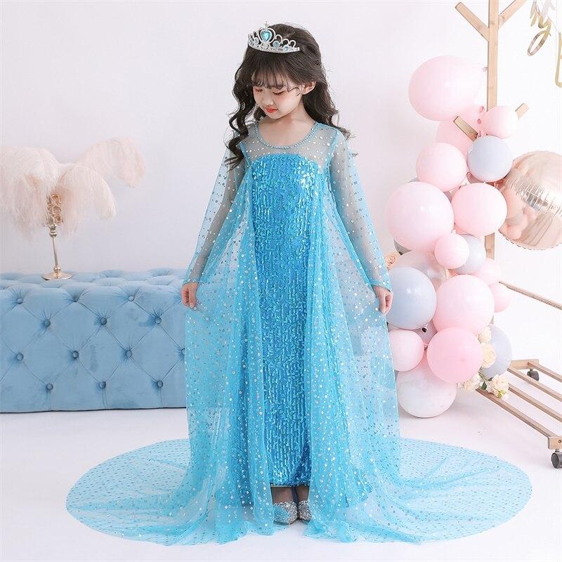 Dress for Girls Kids Christmas Dress Halloween Cosplay Costume Children Birthday Party Clothing Girls Princess Costume 2