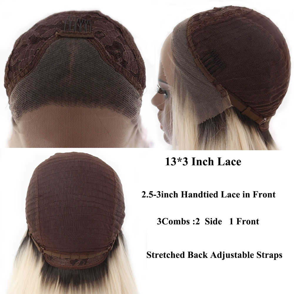 Lvcheryl krótki jasny różowy naturalne fale ręcznie wiązanej bezklejowy ciepła o wysokiej gęstości odporne na włosy syntetyczne peruki typu Lace front Cosplay