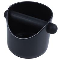 Coffee Grind Knock Box And Espresso Dump Bin (Black)