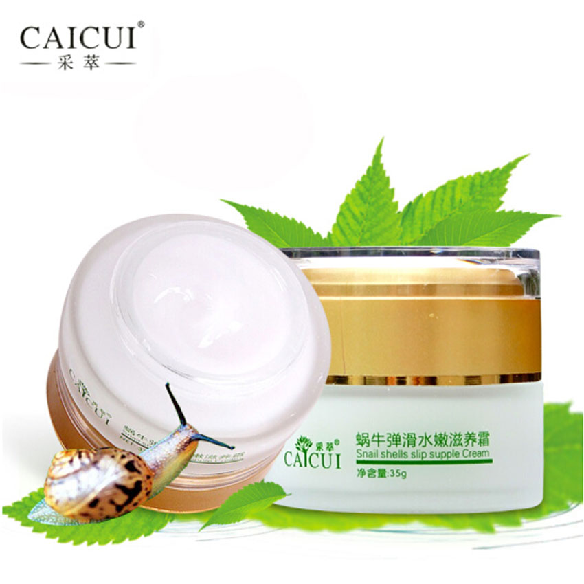 1Pcs CAICUI Korea Snail Face Day Cream Acne Treatment/Moisturizing/Anti Wrinkles/Anti Aging/Whitening Snail Facial Skin Care 35g