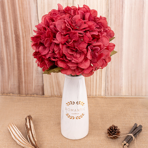 Image 5 - artificial flowers hydrangea branch home wedding decor autum silk plastic flower high quality fake flower party room decoration