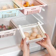 Nowy schowek organizator lodówka z zamrażarką organizator pojemnik do przechowywania do lodówki półka szuflada wygodne przechowywanie organizator do kuchni tanie tanio CN (pochodzenie) Storage rack Rodzaj haczyka Nie-składany stojak Żywności Pojedyncze KİTCHEN Z tworzywa sztucznego Ekologiczne