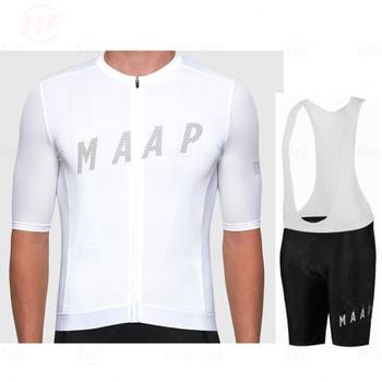 Nowa koszulka kolarska Pro Maap odzież kolarska z krótkim rękawem Mtb odzież rowerowa Triathlon Uniforme Maillot Ciclismo Raiders Jersey tanie i dobre opinie raphaing IT (pochodzenie) 100 poliester Lycra polyester Bezpośrednia sprzedaż z fabryki 80 poliestru i 20 materiału Lycra