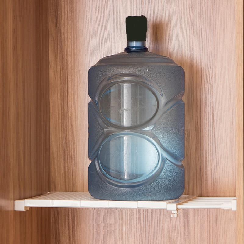 Retractable Closet Organizer Shelf Adjustable Kitchen Cabinet Storage Holder Cupboard Rack Wardrobe Organizer Bathroom Shelf