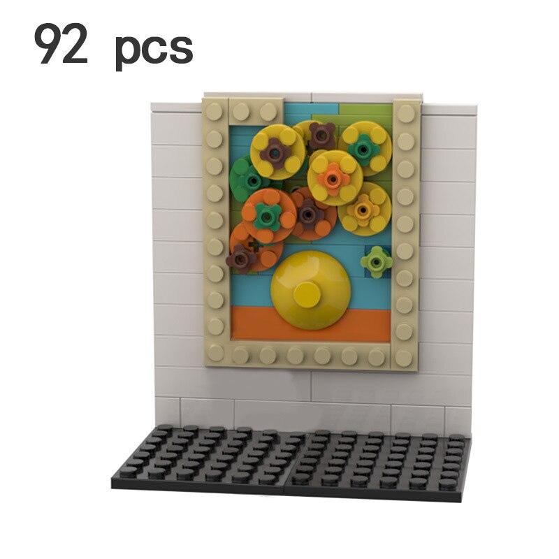 World Famous Classic Painting Van Gogh MOC Sets Model Building Kits Creator Blocks Kids Toys Chilaren Girls Friends Bricks Art 9