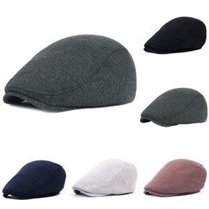 Men warm Bomber Hats Black Grey Herringbone Newsboy Painter Baker Boy Tweed Flat Cap Mens Gatsby Hat beret boina hombre sombrero