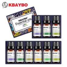 KBAYBO Essential Oils for Aromatherapy Diffusers Humidifier Home Plant Flavor Lavender Tea Tree Lemongrass Rosemary Orange Lily