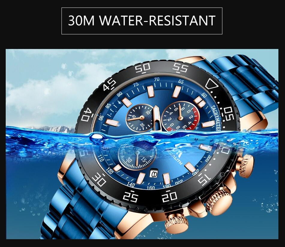 Ha482079299fa407989f338fc9785decdI MEGALITH Watches Mens Waterproof Analogue Clock Fashion Stainless Steel Waterproof Luminous Watch Men Sports Relogio Masculino