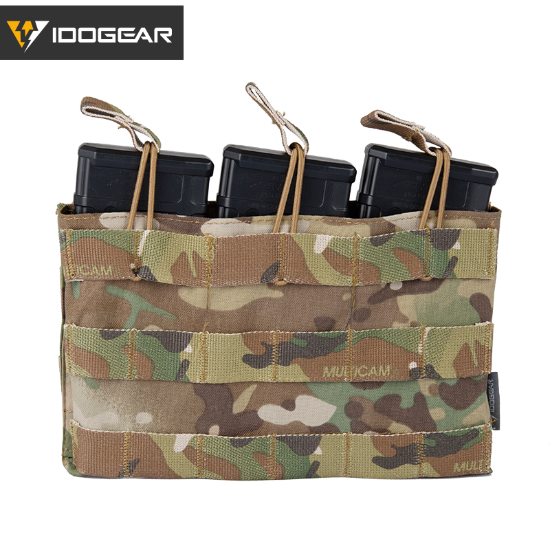 IDOGEAR Triple Magazine Pouch 5.56 Mag Pouch Open Top Army Airsoft Gear Wargame Military Tactical Magazine Pouches 3526