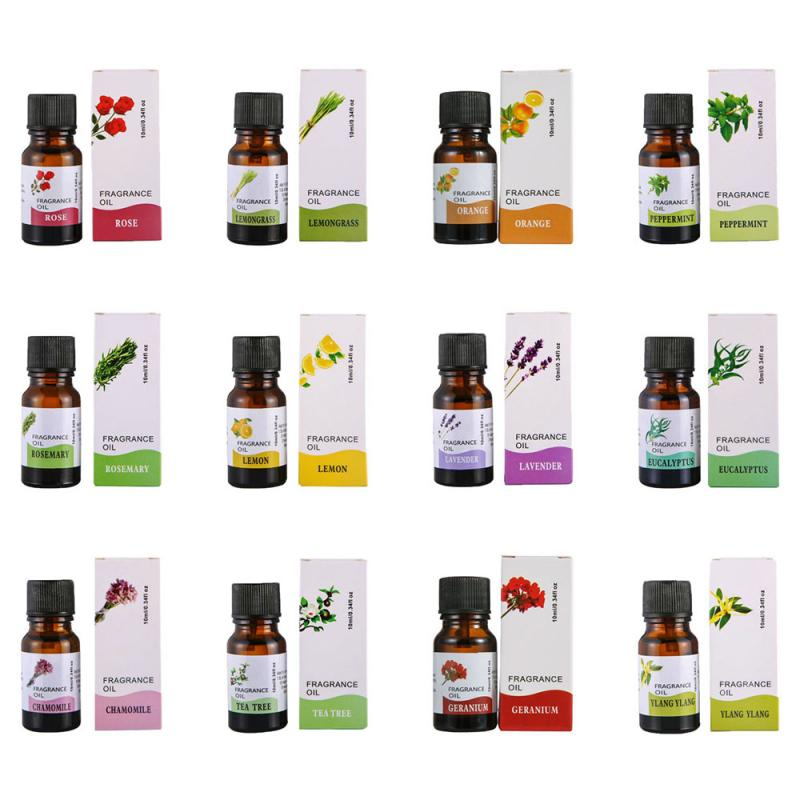 10ml Pure Essential Oils For Humidifier, Fragrance Lamp, Aroma Diffuser Relieve Stress Plant Essence Help Sleep TSLM1