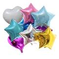 10 шт. Baby Shower 18 дюймов, розового и белого цвета Звездные гелиевые фольгированные шары для девочек Happy День рождения поставки 1st, а также для укр...