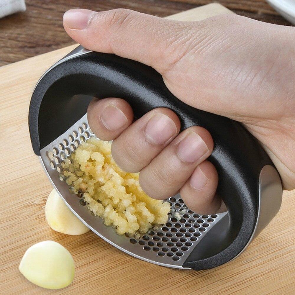 Многофункциональный Нож для измельчения Нержавеющаясталь О-образное чесночный имбирный пресс ручной Кухня прокатки дробилка для фруктов...
