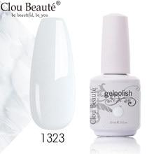 Clou beauté – vernis à ongles UV Semi-Permanent, série de couleurs claires et laiteuses, laque pour Nail Art