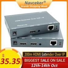 2020 ZY DT209 RJ45 Hdmi Extender Ip Over Utp/Stp CAT5 CAT5e CAT6 Extensor Hdmi Met Ir Lan Netwerk 200M Hdmi Extender Ethernet