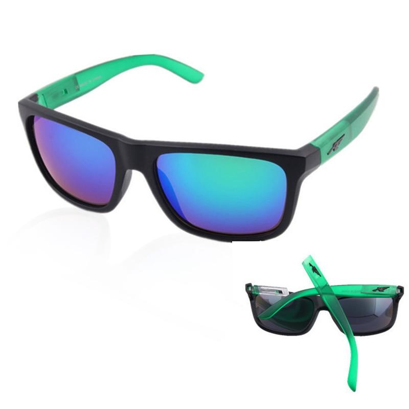 Зеркальные съемные солнцезащитные очки для мужчин, брендовые дизайнерские спортивные Квадратные Солнцезащитные очки Arnette, классические ак...