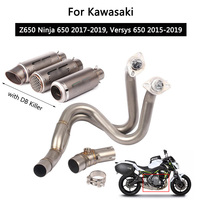 For 2017 2019 Kawasaki Z650 Ninja 650 Complete Exhaust System Motorcycle Exhaust Pipe Slip On 51 mm Front Tail Escape Versys 650