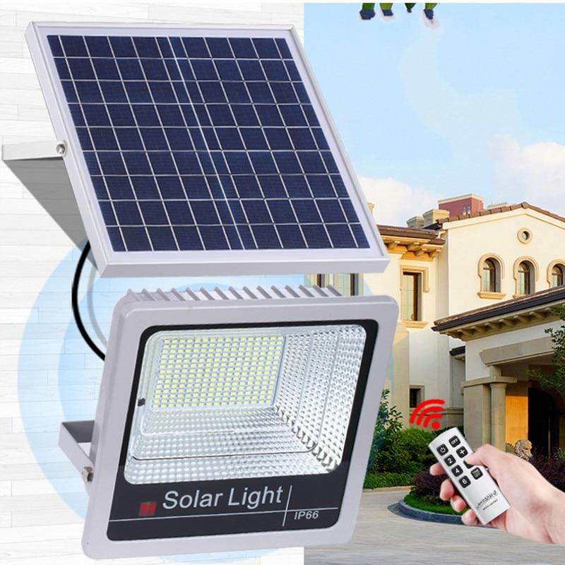 1pcs 40W 60W 80W 100W 120W Led Flood Light Remote Sensor Reflector Solar Floodlight IP65 Led Solar Light Bouwlamp Led Light