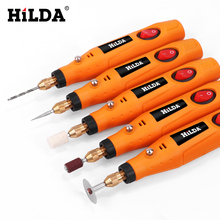 HILDA Mini Drill Rotary tool 12V Engraving Pen With Grinding Accessories Set Multifunction For Dremel tools