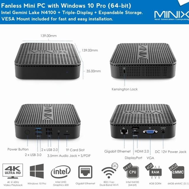 MINI PC Windows 10 Pro Triple-Display Expandable Storage 6