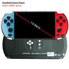 Mando de juegos con consola Retro HUADARRE X12, pantalla grande de 7 pulgadas integrada en 10000 + videojuegos para consola FC GBA CPS NEOGEO
