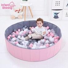 Детский блестящий мяч, ямы, складной шар, бассейн, диаметр 120 см/47 дюймов, Океанский шар, игрушечный манеж, моющийся, складной забор, детский подарок на день рождения