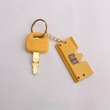 Аксессуары для экскаватора из чистой меди ключ замка зажигания для гусеницы CAT 305/320/330/336B/C/D