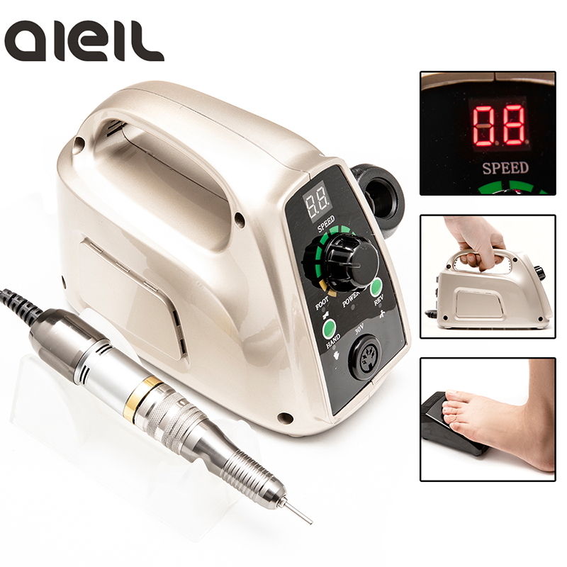 Nail Drill 35000 Manicure Machine for Manicure Cutter For Manicure Pedicure Apparatus for Manicure Electric Nail Drill Machine-in Electric Manicure Drills from Beauty & Health